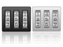 Combination lock icon. S on a white background royalty free illustration