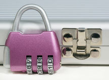 Combination lock, lock box, macro Royalty Free Stock Image