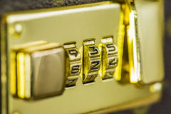 Combination lock. Macro shot of a combination lock of a suitcase. shallow depth of field Stock Image
