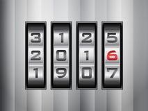 Combination lock 2016 Stock Photo