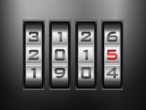 Combination lock 2015 Royalty Free Stock Image