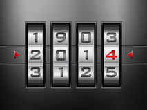 Combination lock new year Stock Photos