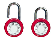 Open and closed combination locks Royalty Free Stock Photography