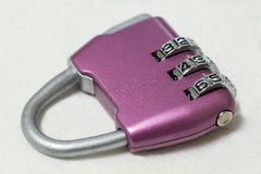 Combination lock. purple Royalty Free Stock Images