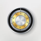 Combination Lock, Realistic Metal Vector Illustration. Safe Lock Stock Photos