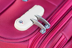 Combination lock. On red suitcase travel bag Stock Photography