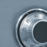 Combination lock on the safe. Fragment combination lock on the safe closeup Royalty Free Stock Photography