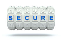 Combination lock with secure word Royalty Free Stock Photography