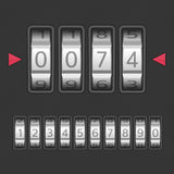 Combination lock set. Combination, number code Lock. Vector illustration of a combination lock set with all ten numbers. Protection, security concept. Keypad Stock Image