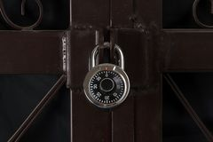 Combination lock. With steel door Stock Image
