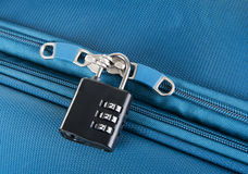Combination lock on a suitcase Royalty Free Stock Photos