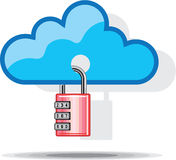 Combination lock to Cloud Networking Stock Images