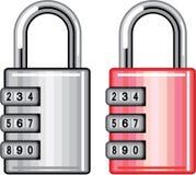 Combination lock vector Stock Photo