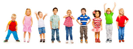 Free Combination Of Little Kids Standing Isolated Royalty Free Stock Photos - 49880398