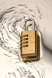 Combination padlock Stock Photos