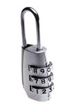 Combination padlock. Metal combination padlock on a white background Royalty Free Stock Image