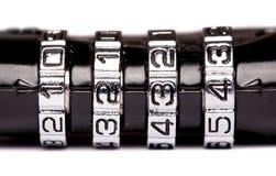 Combination padlock close up Stock Photography