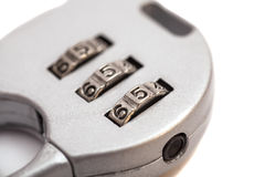 Combination padlock close up with numbers Royalty Free Stock Photos