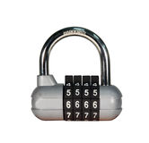 Combination padlock isolated with path Royalty Free Stock Images