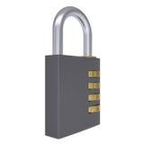 Combination padlock Stock Photo