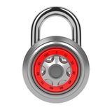 Combination Padlock Isolated on White. Stock Image