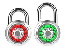 Combination Padlock Isolated on White. Stock Photography