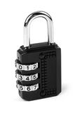 Combination padlock isolated on white Stock Photography
