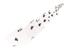 The combination of playing cards . clubs .on a white background. The combination of playing cards. clubs  .  .on a white background Royalty Free Stock Images