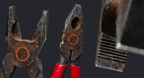 Combination pliers. Lineman's pliers also called combination pliers are a type of pliers used for gripping, twisting, bending and cutting wire and cable Royalty Free Stock Photos