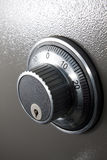 Combination Safe Lock. Showing number and key hole Stock Images