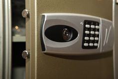 Combination safe lock. Element of the bank metal safe Royalty Free Stock Image