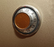 Combination safe lock. Element of the bank metal safe Royalty Free Stock Photo