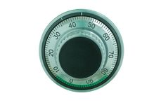 Combination safe lock dial Royalty Free Stock Photography