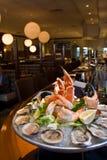 Combination seafood platter Stock Photo