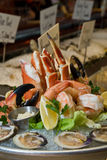 Combination seafood platter Stock Photography