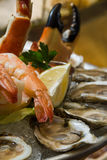 Combination seafood platter stock image