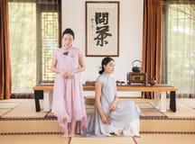The combination of tea art-China tea ceremony Royalty Free Stock Photography