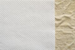 Combination of two paper textures Royalty Free Stock Photography