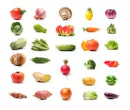 Combination of various vegetables. On white background Stock Photography
