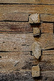 Combination of wooden beams Royalty Free Stock Photo