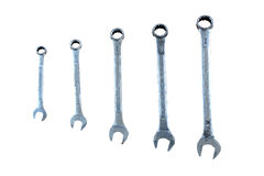 Combination Wrench. On white background Stock Image