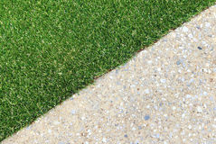 Combinations of grass and concrete Royalty Free Stock Image