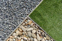 Combinations of grass and stones Royalty Free Stock Images