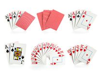 Combinations of playing cards Stock Photos