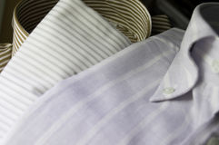 Combinations of shirts. Different combinations of shirts with different colors and fabrics royalty free stock image