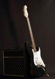 Combinato e chitarra immagine stock libera da diritti