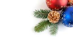 Combinazione d'angolo di decoratio anno nuovo/di natale fotografia stock