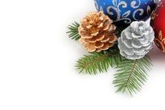 Combinazione d'angolo di decoratio anno nuovo/di natale Immagine Stock