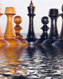 Combinazione dai chessmen Fotografia Stock