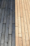 Combinazione di materiali di legno, legno bruciato Fotografia Stock